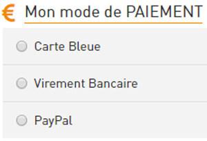 Mode de paiement