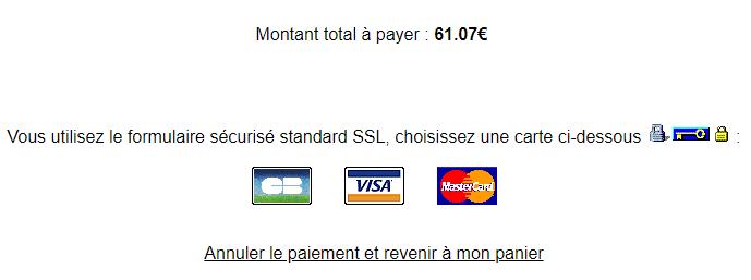 Annuler le paiement