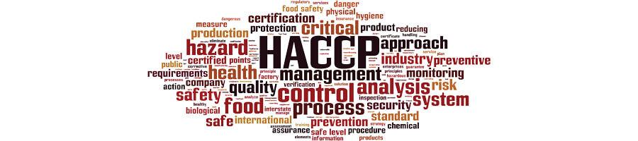 Nuage de mots autour du concept HACCP