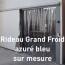 Rideau Grand Froid azuré bleu sur mesure