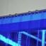 Rideau standard bleu transparent recouvrement 50%