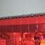 Rideau standard rouge transparent recouvrement 100%