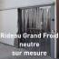 Rideau Grand Froid neutre sur mesure