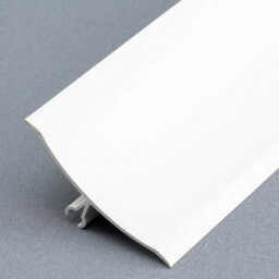 Congé d'angle mâle PVC blanc à lèvres souples