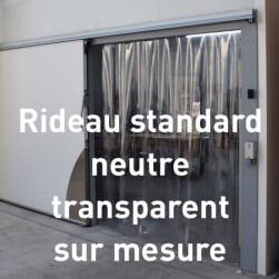 Rideau à lanières PVC Standard neutre - Sur mesure