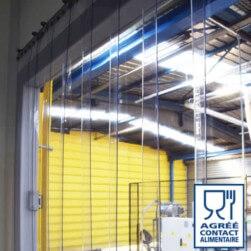 Rideau à lanières PVC Contact Alimentaire - Recouvrement 50%