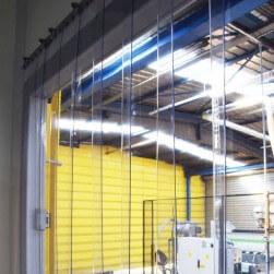Rideau à lanières PVC Standard azuré bleu - Recouvrement 50%
