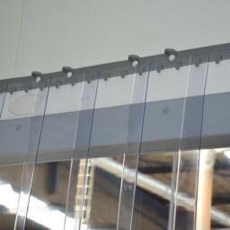 Rideau à lanières PVC Grand Froid neutre - Recouvrement 50%