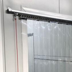 Rideau à lanières PVC coulissant standard neutre - R=36%