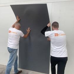 Plaque PVC gris granit 2.5 mm satinée pour rénover vos murs