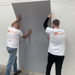 Plaque PVC gris dauphin 2.5 mm satinée pour rénover vos murs