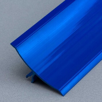 Congé d'angle mâle PVC bleu à lèvres souples