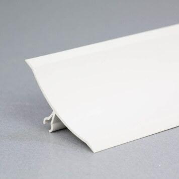 Congé d'angle mâle PVC gris-blanc à lèvres souples