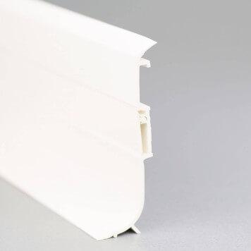 Plinthe PVC blanche à lèvres souples