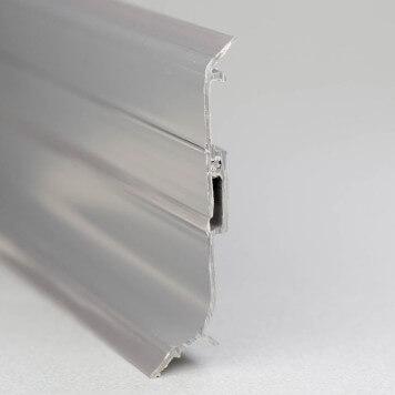 Plinthe PVC gris foncé à lèvres souples