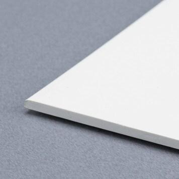 Plat PVC Blanc 100 mm X 2.5 mm - longueur 3 m