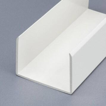 Profilé PVC de Chant de 80 mm blanc