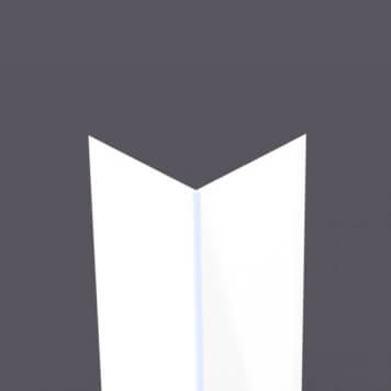 Cornière PVC Pliable 130 x 130 mm Blanc 9010 - ép. 3 mm, long. 3 m