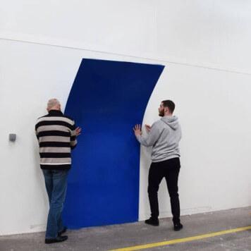 Plaque PVC bleue 3 mm rigide et brillante