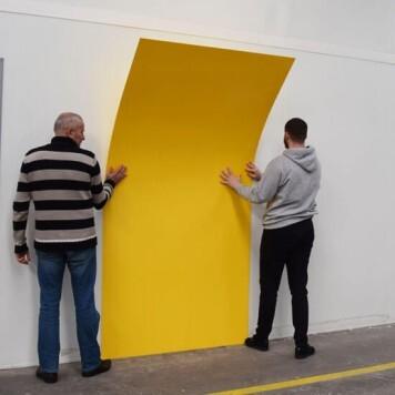 Plaque PVC jaune 3 mm rigide et brillante
