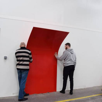 Plaque PVC rouge 3 mm rigide et brillante