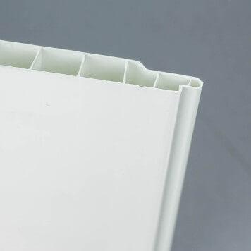 Lambris PVC alvéolaire blanc lisse et étanche
