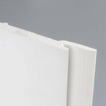 Lambris PVC plein blanc lisse et résistant aux chocs