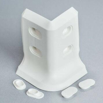 Angle externe blanc 2D pour plinthe à lèvres souples