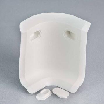 Angle interne blanc 3D pour plinthe à lèvres souples