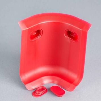 Angle interne rouge 3D pour plinthe à lèvres souples