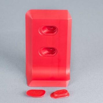Embout gauche rouge pour plinthe à lèvres souples