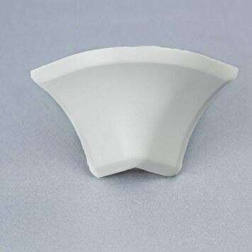 Jonction externe 2D gris-blanc pour Congé d'angle PVC
