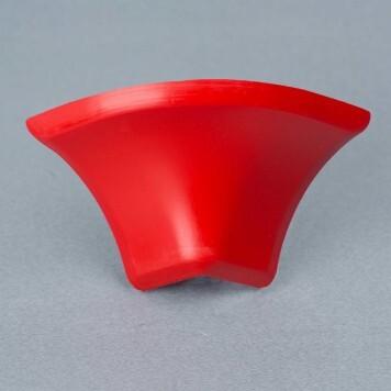 Jonction externe 2D rouge pour Congé d'angle PVC