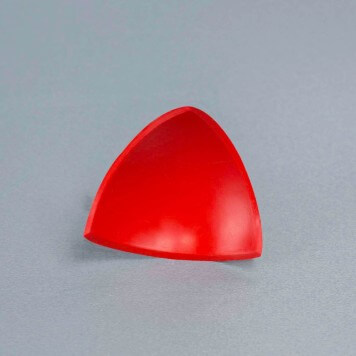 Jonction interne 3D rouge pour congé d'angle PVC