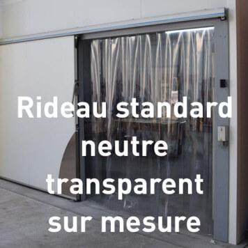 Rideau standard transparent neutre sur mesure