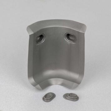 Angle interne gris foncé 3D pour plinthe à lèvres souples