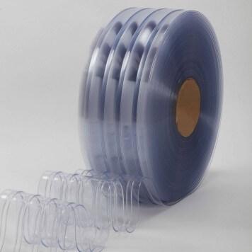 Rouleau 50m lanière PVC Standard nervuré azuré bleu 200mm x 6mm