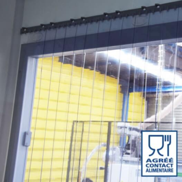 transparent protection contre les /&eacu rails de montage galvanis/és Rideau /à lani/ères en PVC Rideau industriel /à lani/ères 2x200mm r/ésistant aux intemp/éries compl/ètement pr/é-assembl/é