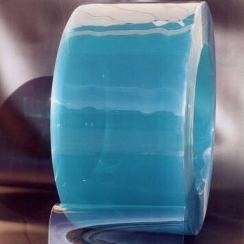 Rouleau 50m lanière PVC Super Grand Froid azuré vert 200mm x 2mm