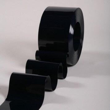 Rouleau 50m lanière PVC Standard noir opaque 200mm x 2mm