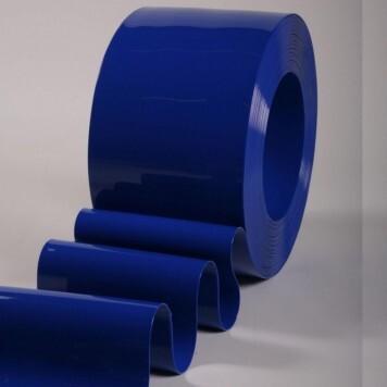 Rouleau 50m lanière PVC Standard bleu opaque 200mm x 2mm