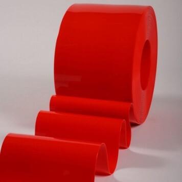 Rouleau 50m lanière PVC Standard orange opaque 200mm x 2mm