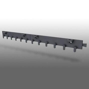 Rail de fixation pour rideau à lanières PVC souple