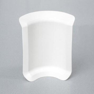 Angle interne blanc pour plinthe adhésive étanche à lèvres souples