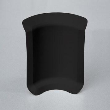 Angle interne noir pour plinthe adhésive étanche à lèvres souples