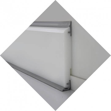 Angle interne sur mesure pour plinthe Polyéthylène à joints