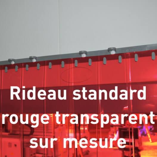 Rideau standard rouge transparent sur mesure