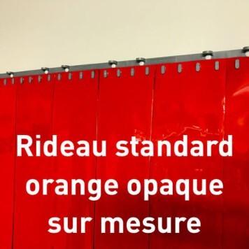 Rideau standard orange opaque sur mesure