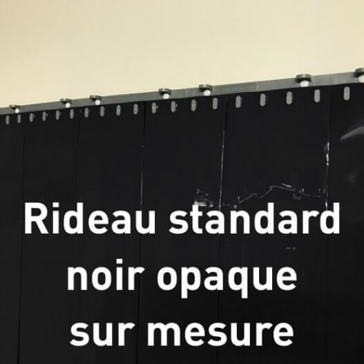 Rideau standard opaque noir sur mesure