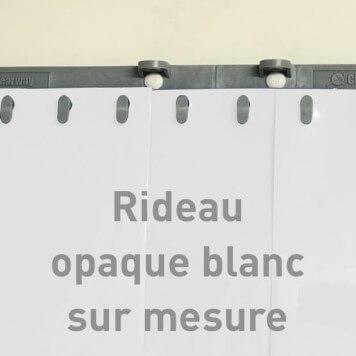 Rideau opaque blanc sur mesure